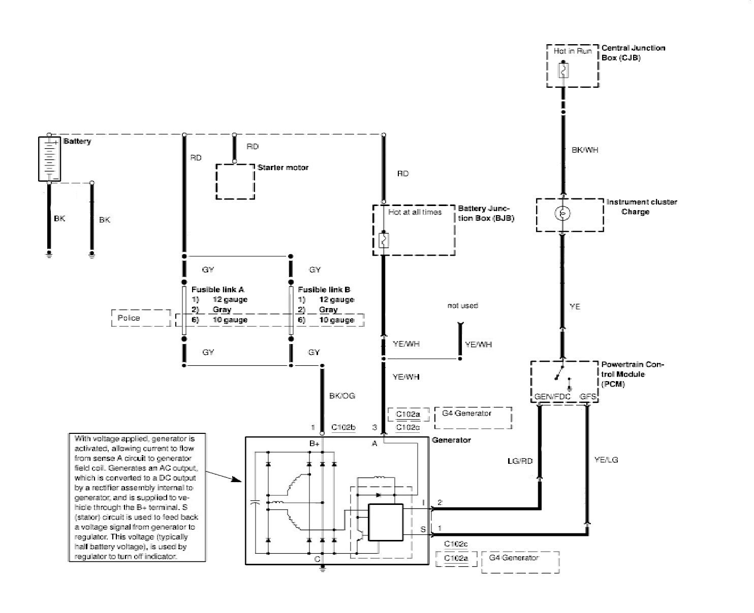 04crownviccharge ford crown victoria alternator wiring diagrams central test unit wiring diagram at n-0.co