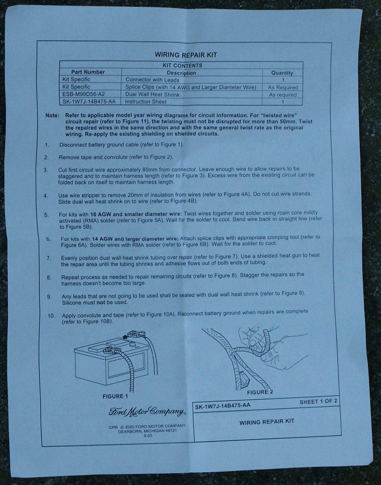 Ford Blower Motor Resistor Pigtail Replacement Wiring Diagram Of Chevy Pick Up And The Instruction Manual That Includes With Kits