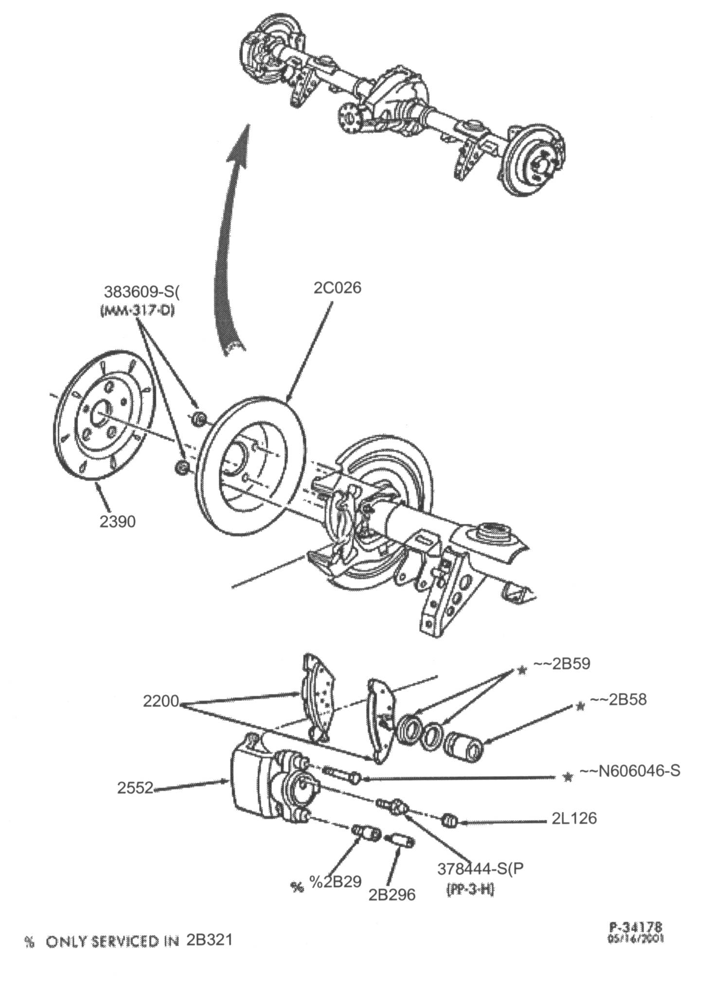 Ford Crown Victoria Brake Service Notes Drum Diagram Rear Brakes P Both Pads And Shoes In The Are Engaged During Normal Braking Minature Set Of Which Contacts Inside