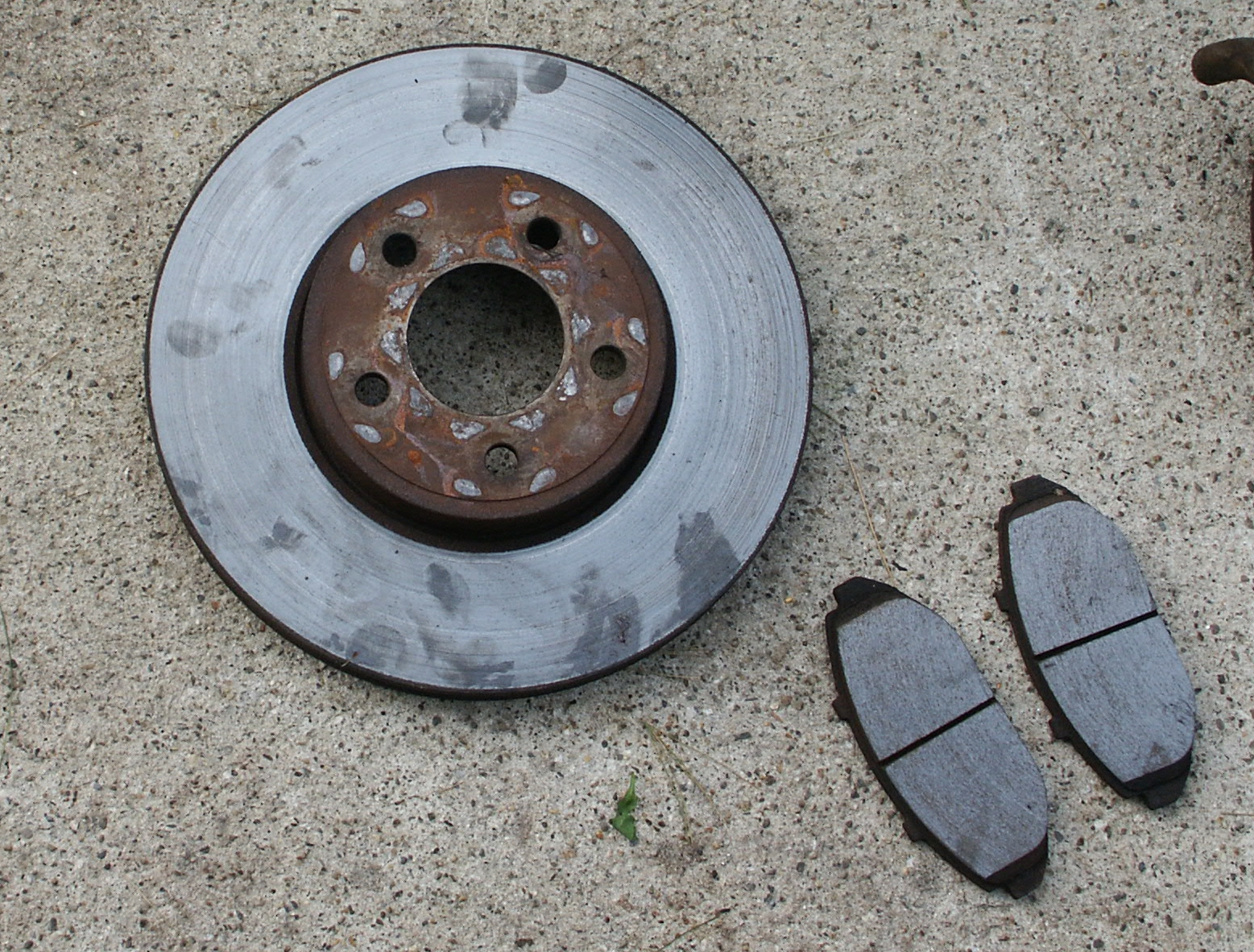 Brake Pad Replacement : How to install replace front brake pads rotors ford crown
