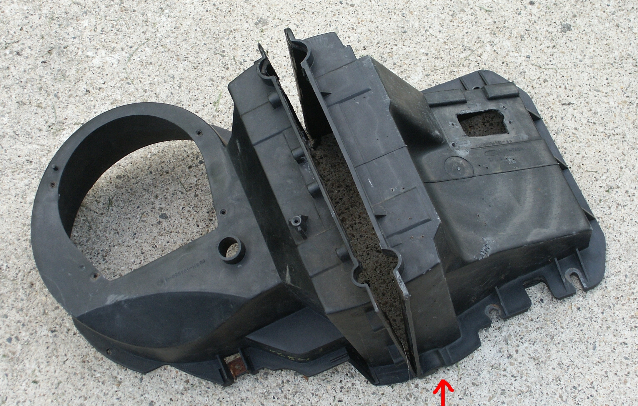Ford crown victoria evaporator drain pictures for How much does a blower motor cost