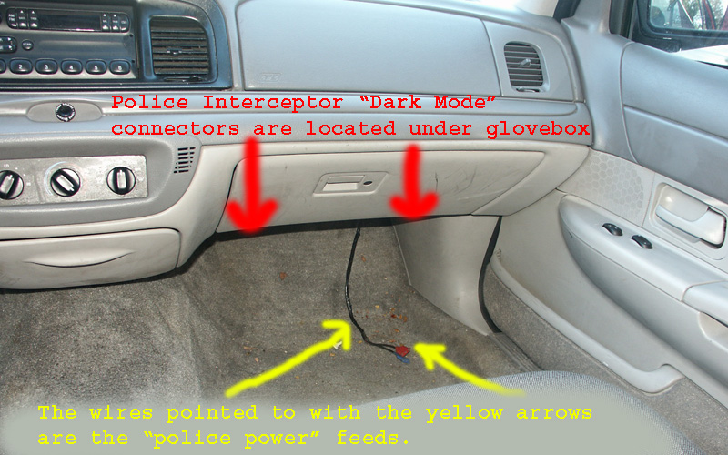 police interceptor dark car option some crownvic owners have commented that their domelight still will not light up after disabling dark car mode this is often because police agencies cut