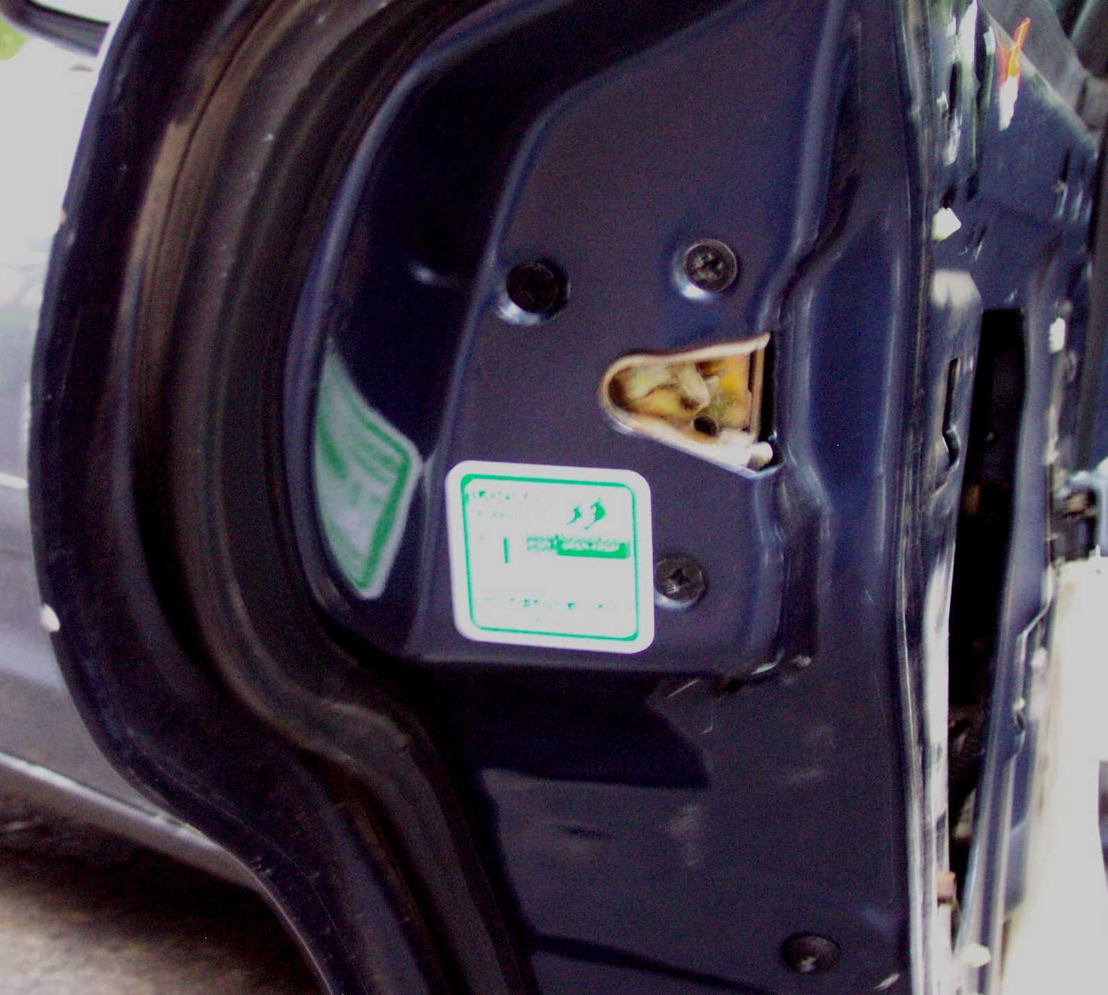 Ford Crown Victoria Police Interceptor P71 Rear Door Parts