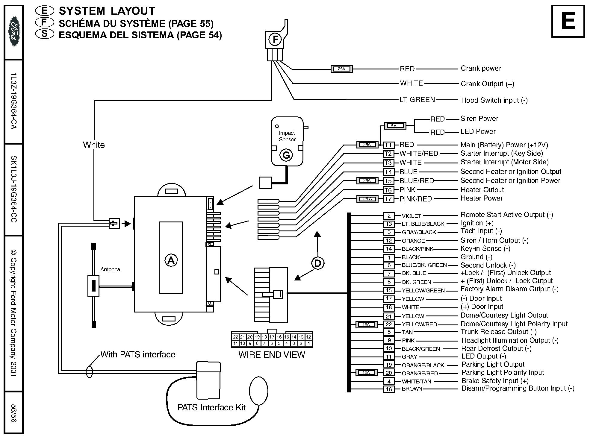 ford remote starter and alarm installation rh idmsvcs com 2001 ford f150 remote  start wiring diagram