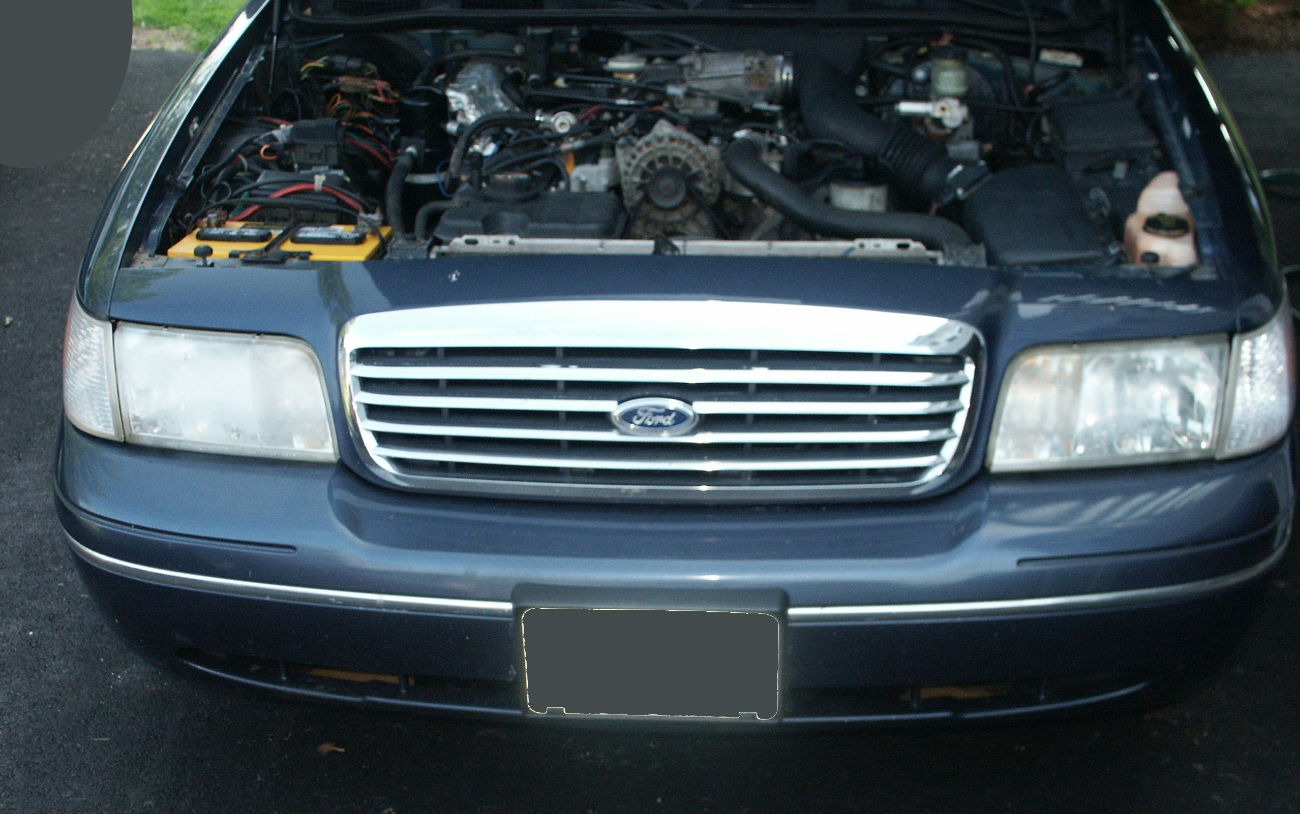 The First Part Of This Repair Was To Acquire A New Parts These Are Genuine Oem Ford Headlights For Production 2004 Crown Victoria