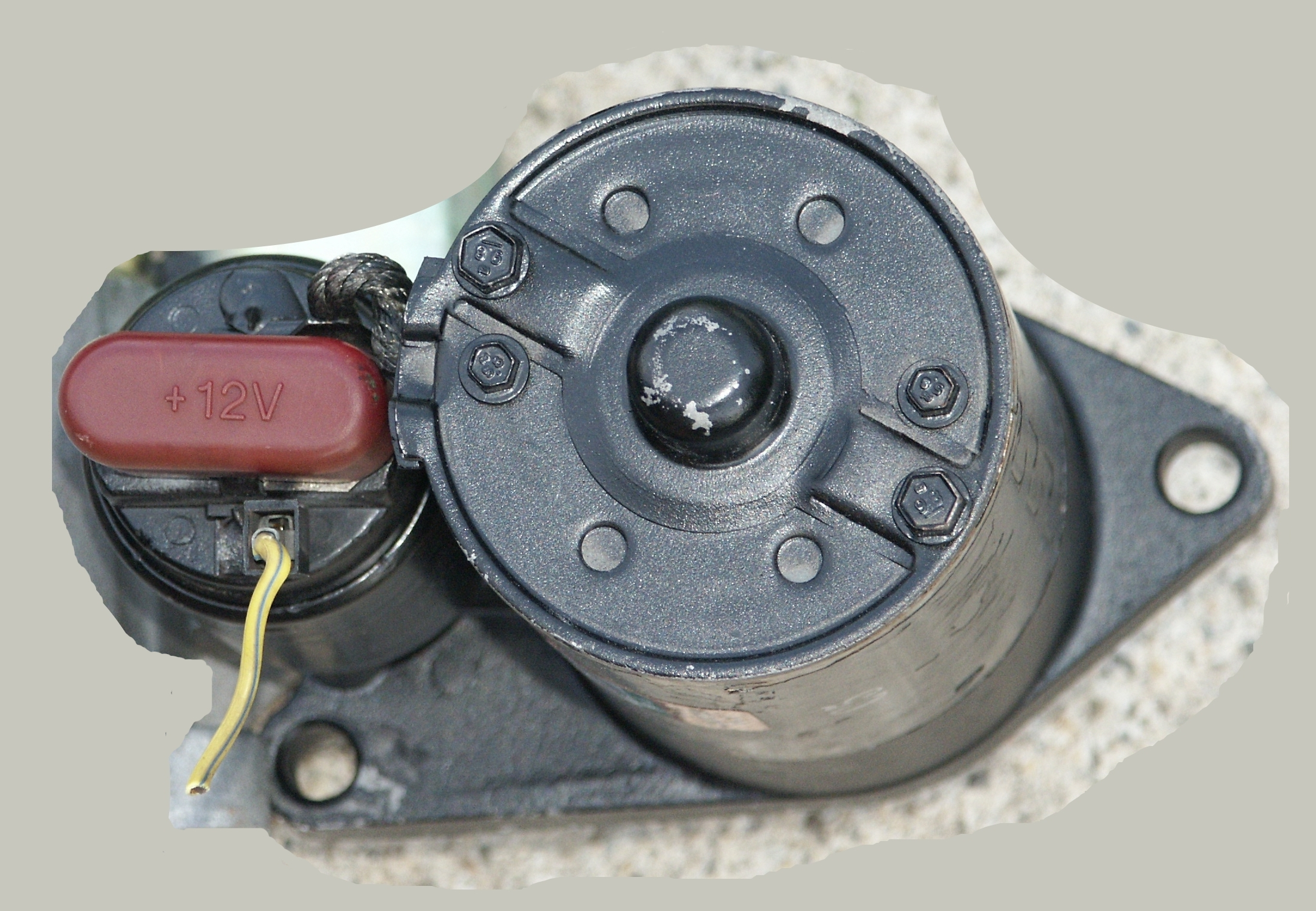 Ford Starter Solenoid Spade Terminal Ignition Switch Pigtail Wiring Heres The Same But With Red Safety Cap Over High Current Battery Feeds Connection Points Removed