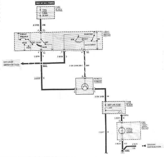 schematic1 thirdgen firebird dashlight troubleshooting Single Pole Dimmer Switch Wiring at fashall.co