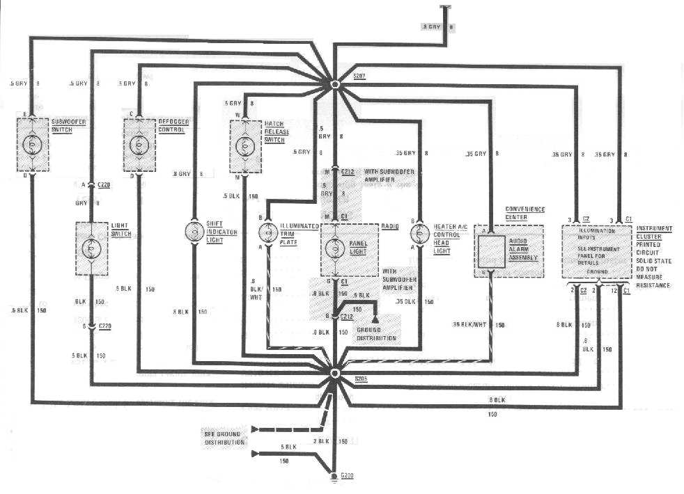 buick grand national radio wiring diagram