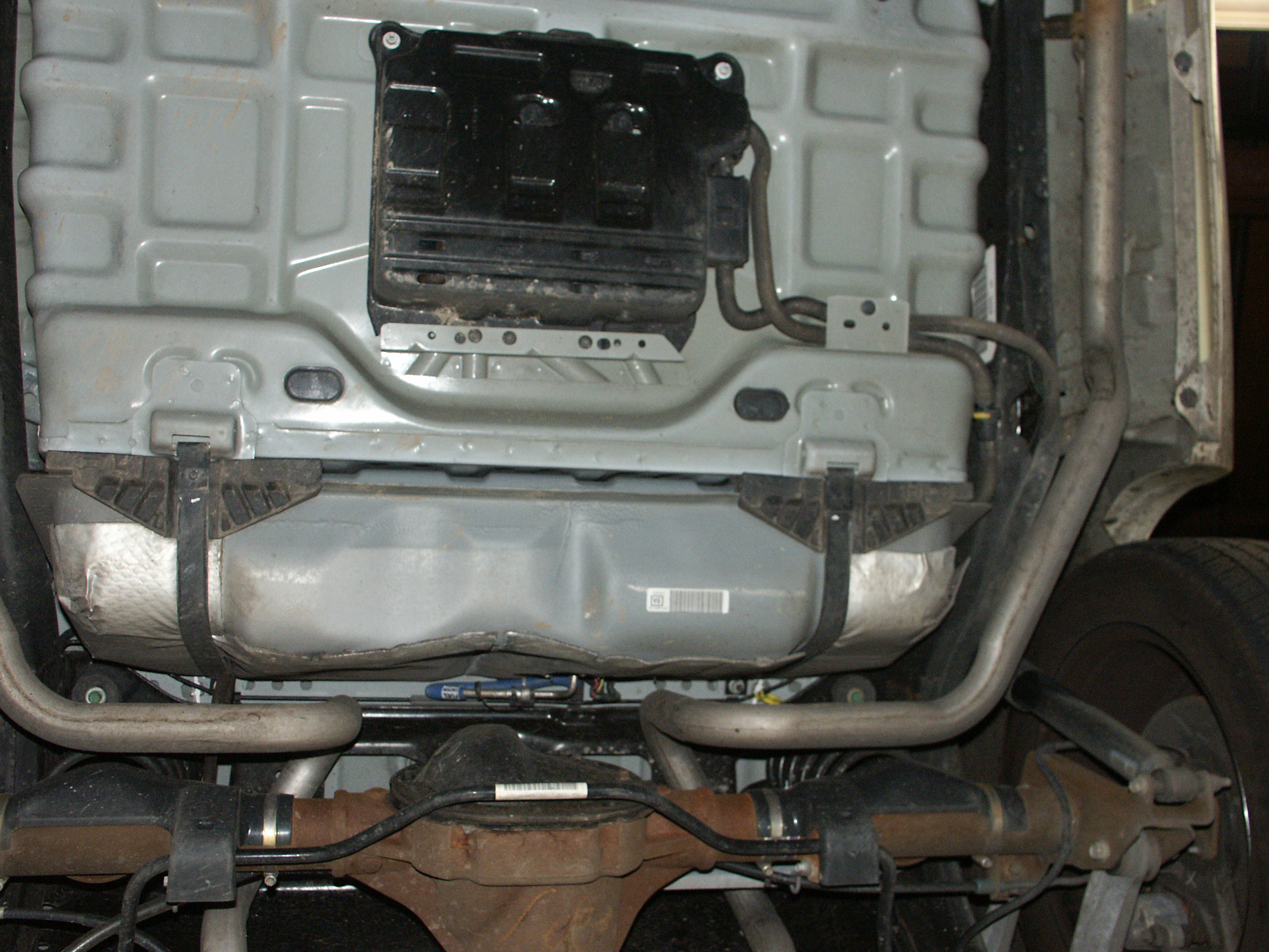 Starting in the 2003 model year the shock absorbers were relocated outside the frame rail
