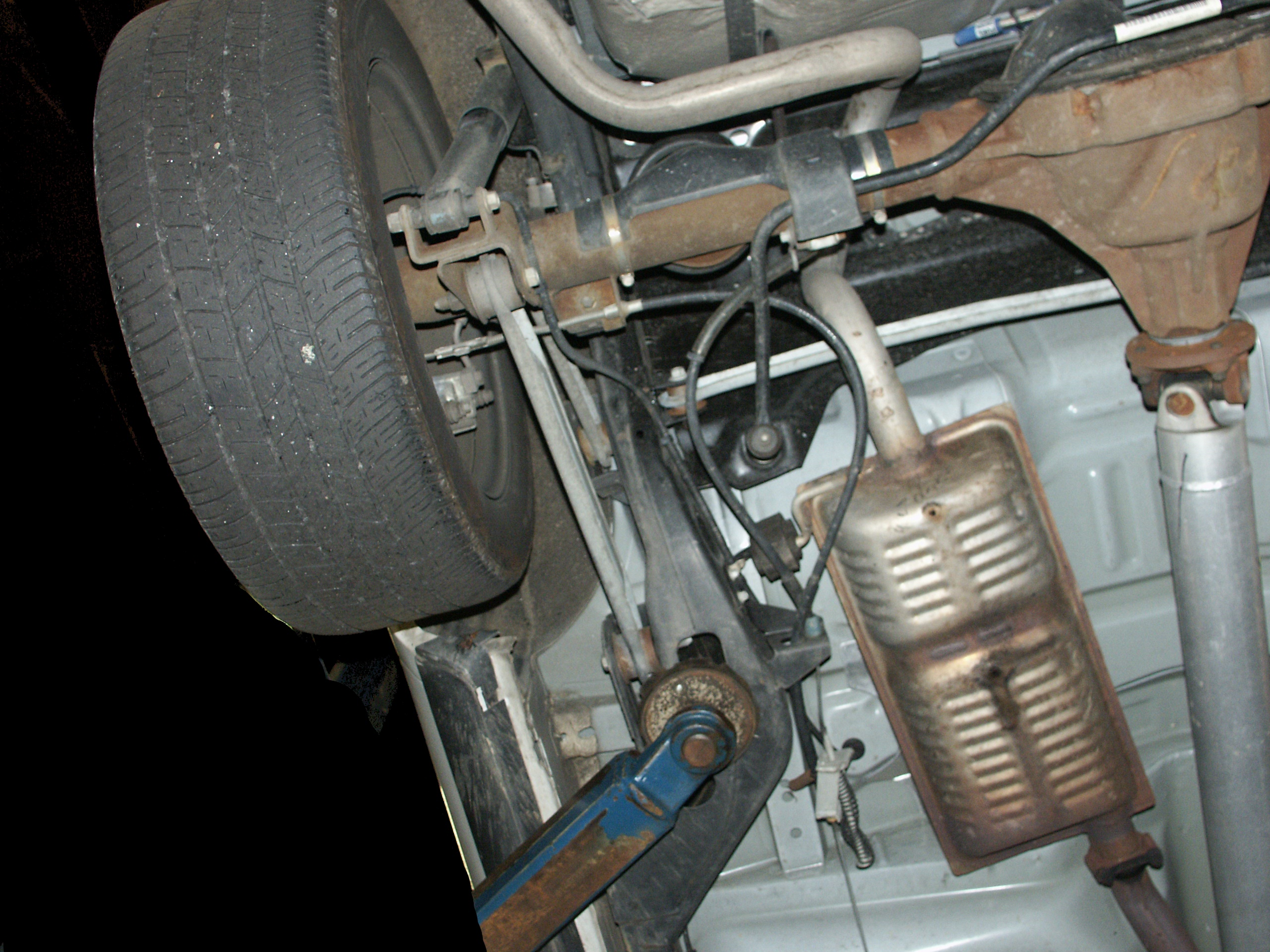 The e brake adjustment mechanism is essentially a re run of previous model years