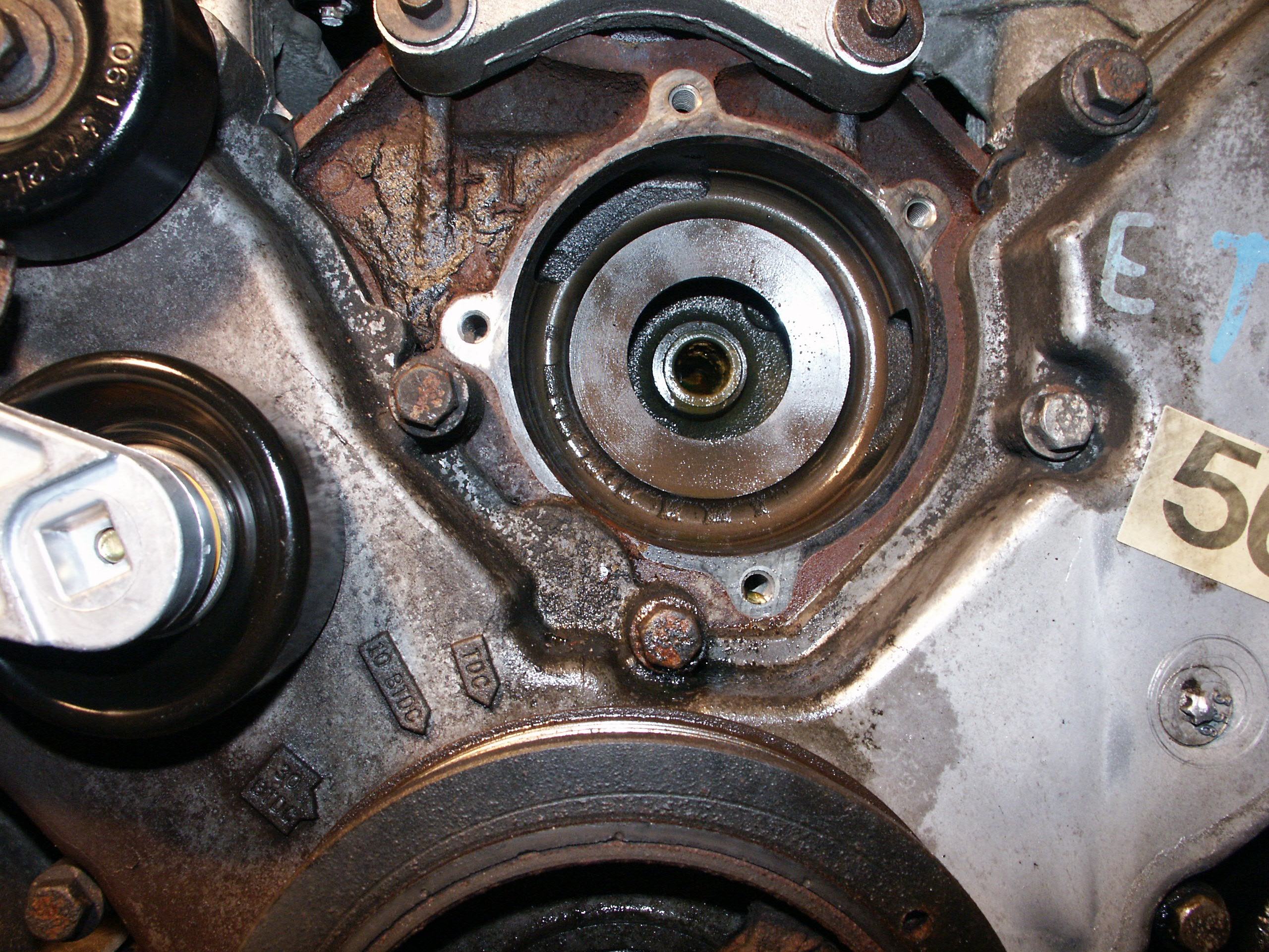 1998 Ford Crown Victoria Water Pump Replacement Engine Diagram This Particular Waterpump Came Out Relatively Easy Sometimes The Is Really Stuck In Block And One Needs To Use A Hammer Pound It