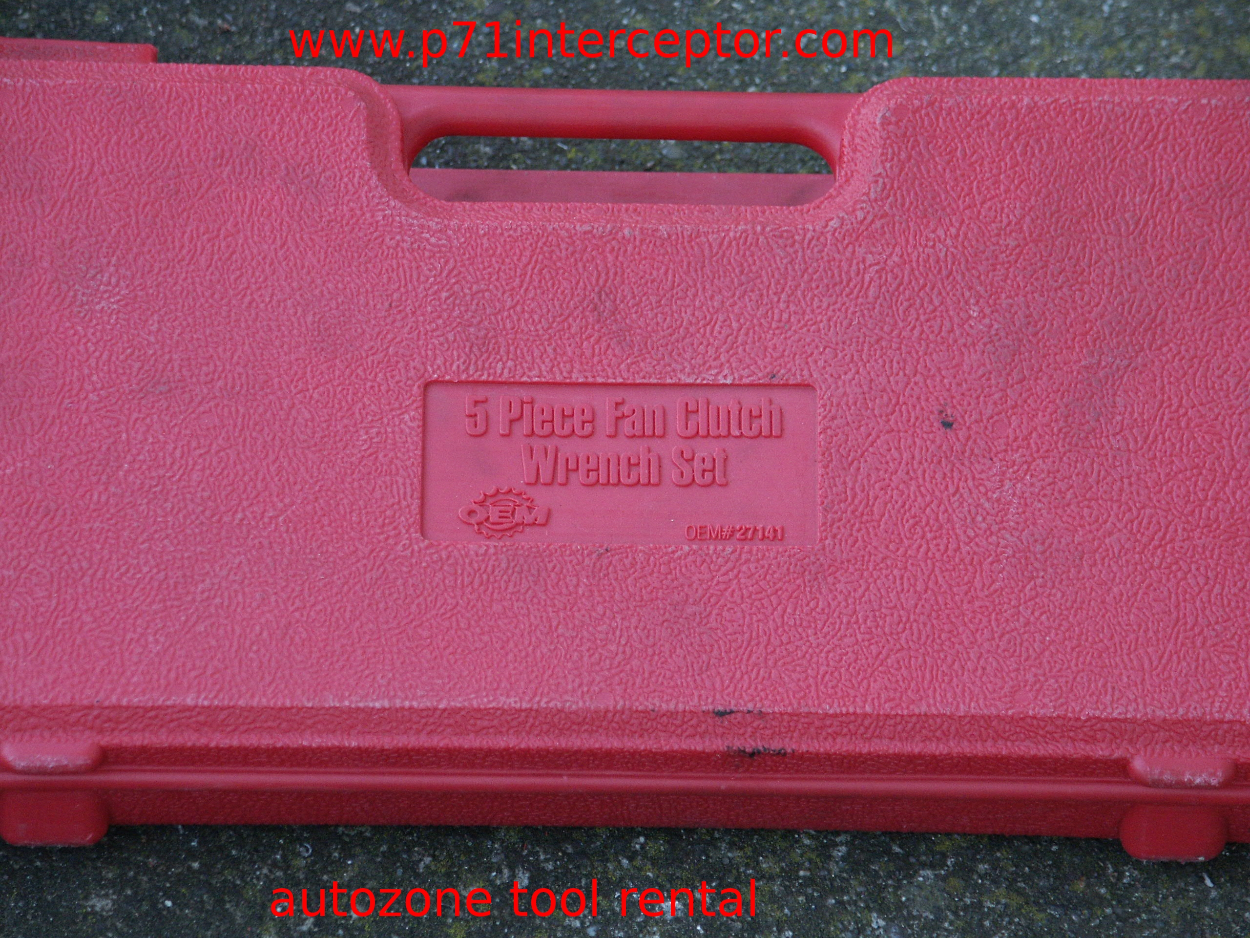 Autozone Tool Rental Fan Clutch Wrench Pictures