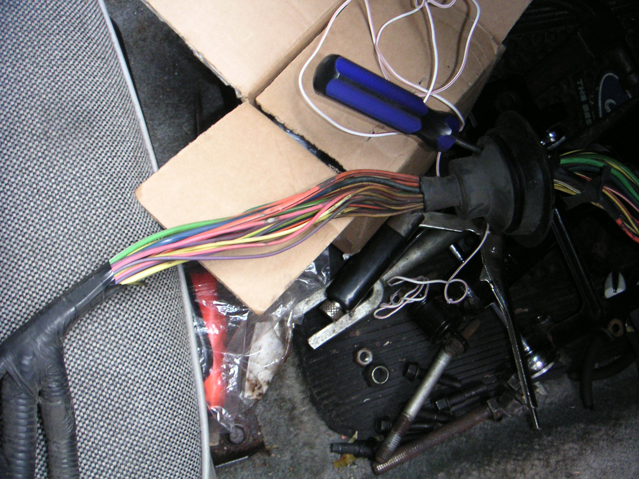 Ford Crown Victoria Wiring Harness Problems Upfitter Under Hood The Federal Us Marshals Service Vehicle Upfitters Drilled An Extra Hole Through This Rubber Grommet To Pass Some